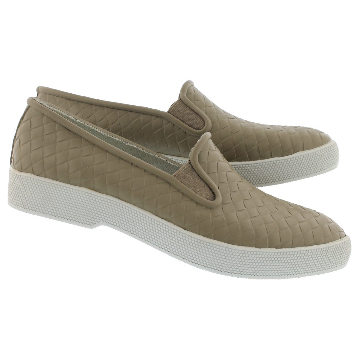 Lds Swoon taupe waterproof slip on shoe