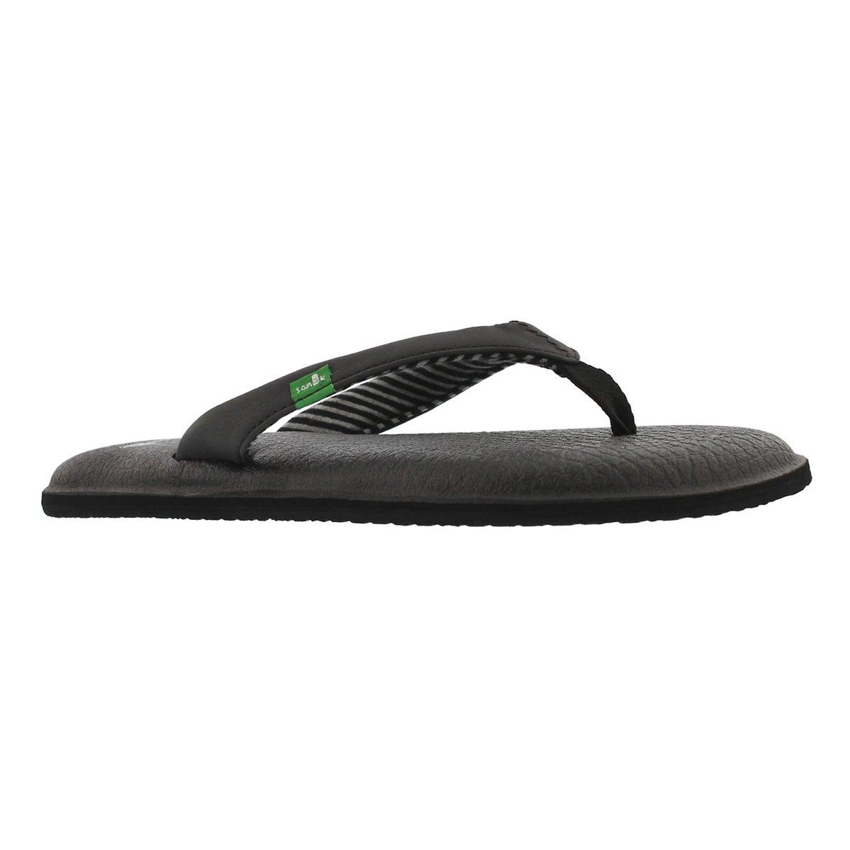 45919c020c6da8 Sanuk Women s YOGA CHAKRA black flip flops