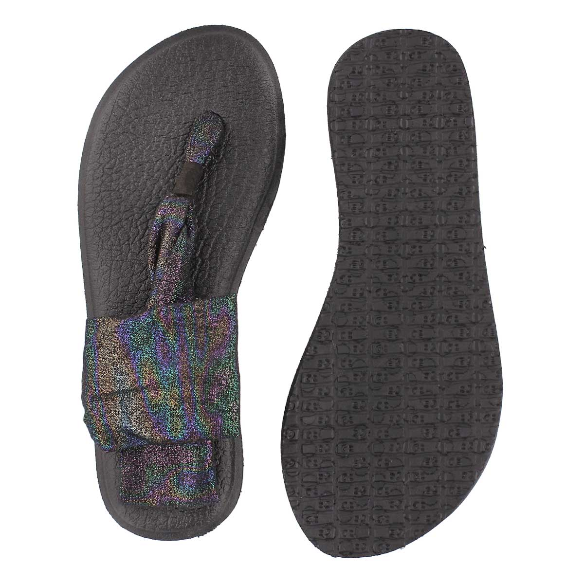 Sandale tong Yoga Sling, noir multi, fem