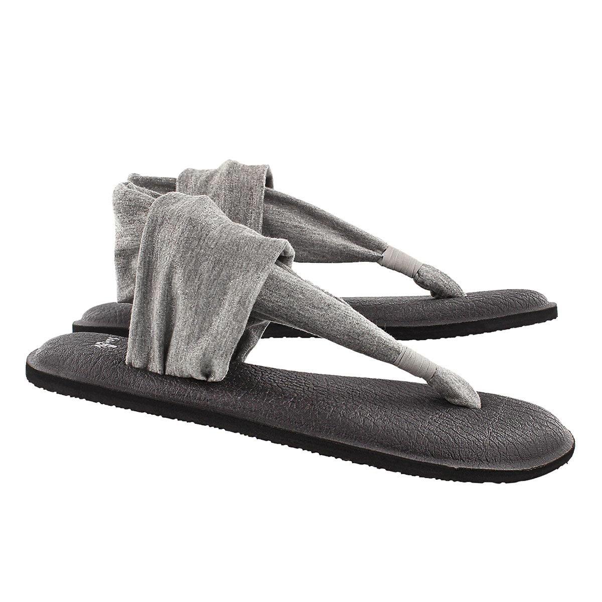 Sandale tong Yoga Sling, argent mét, fem