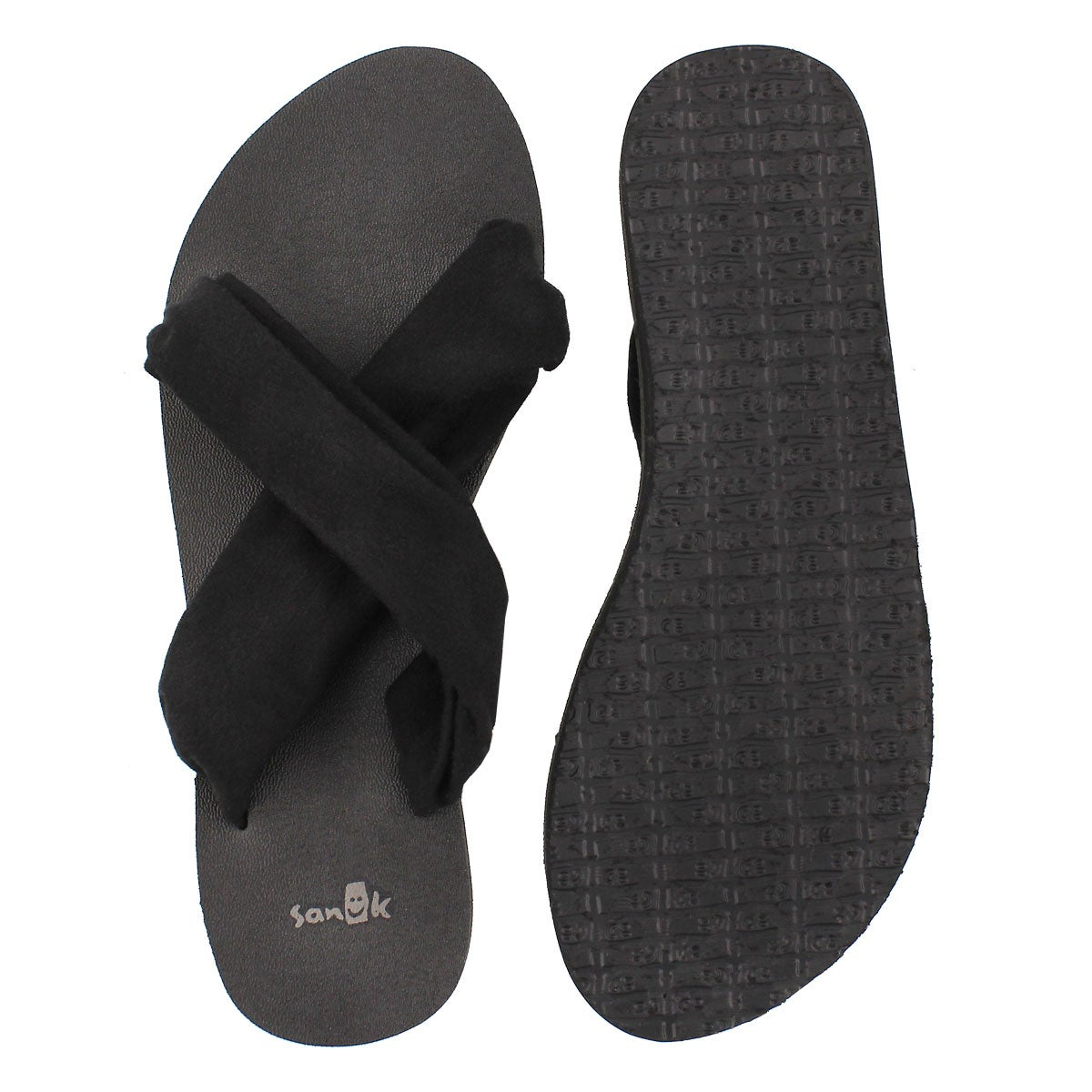 Lds Yoga X-Hale black slide sandal