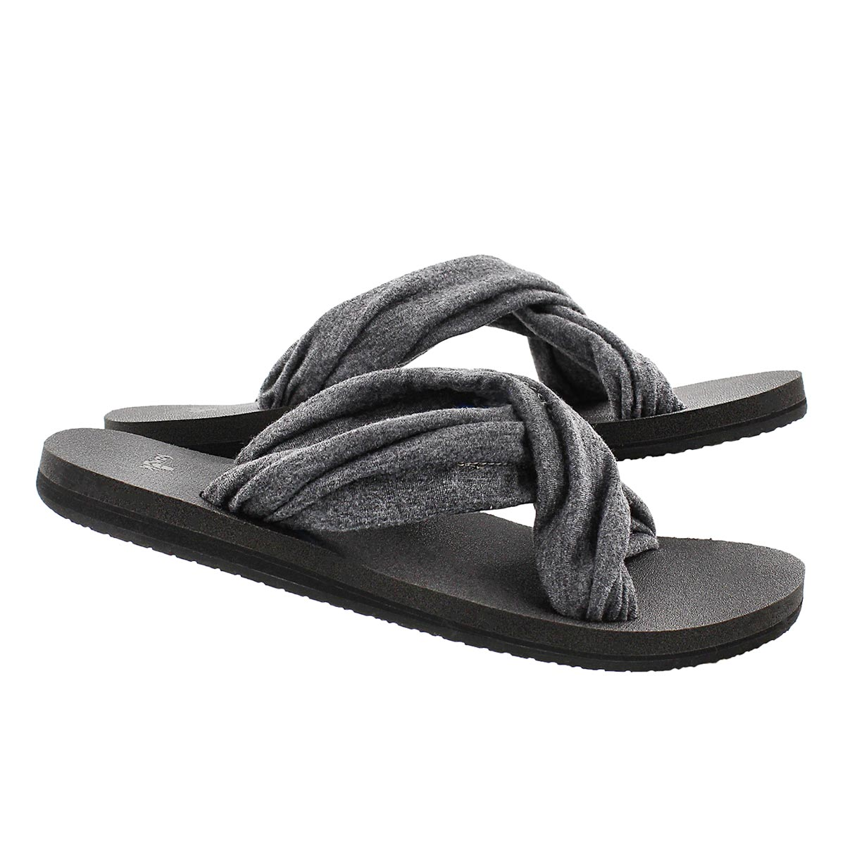 Lds Yoga X-Hale charcoal slide sandal