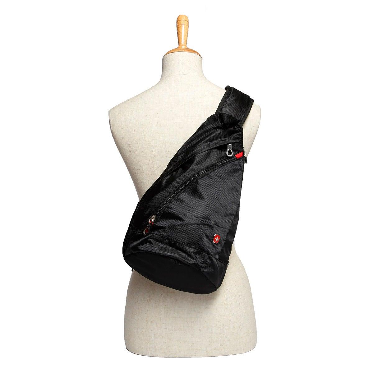 Unisex Swiss Gear black mini sling bag