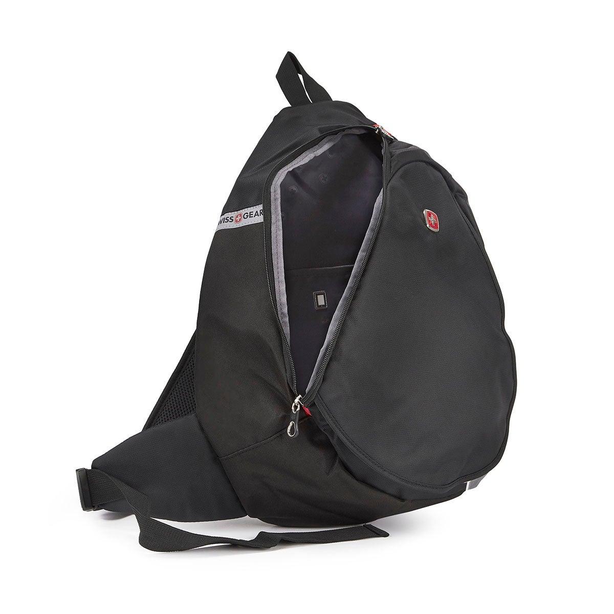 Unisex Swiss Gear black laptop sling bag
