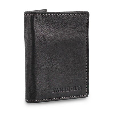 Mns black slim card case wallet