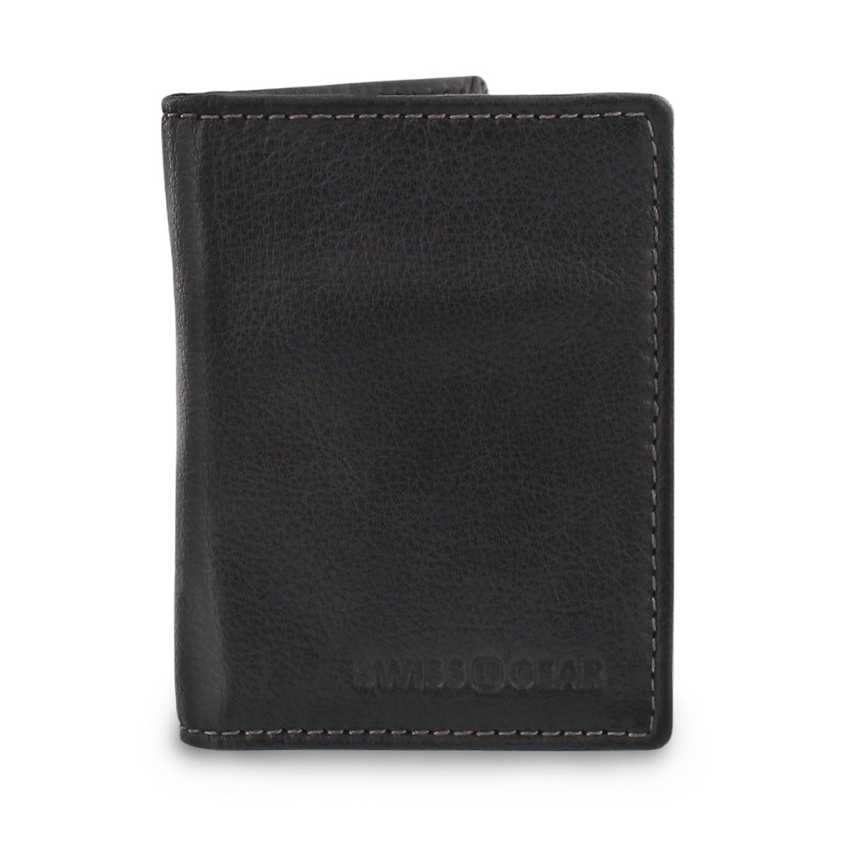 Mns black slim card case wallet