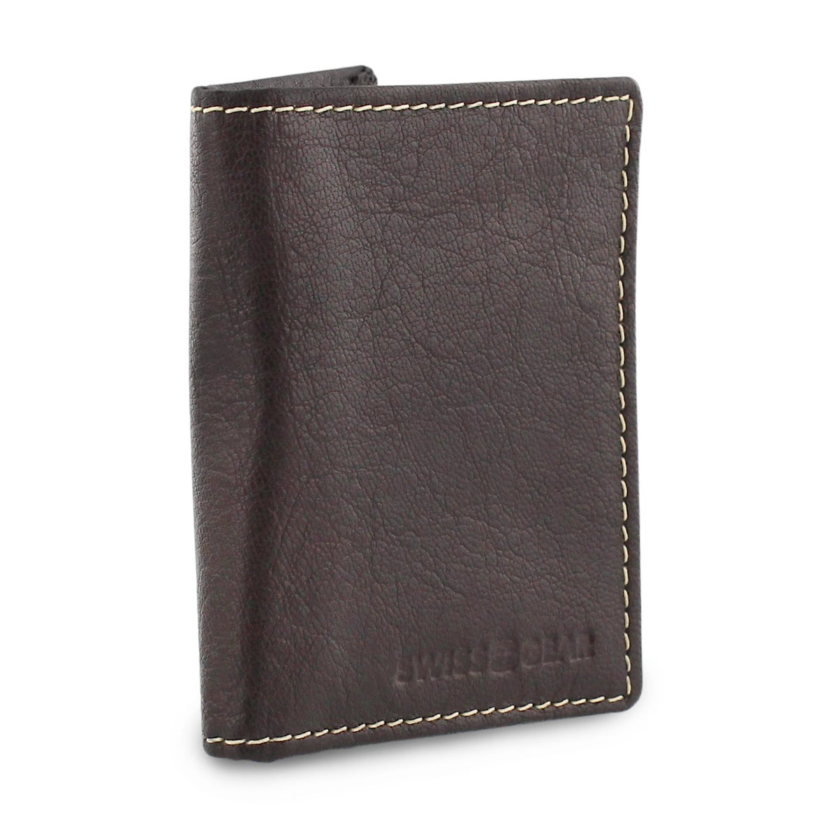 Mns brown slim card case wallet