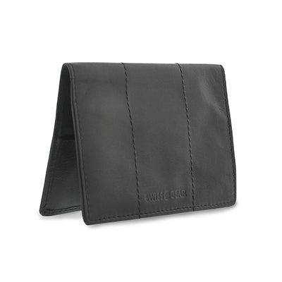 Mns black passport cover