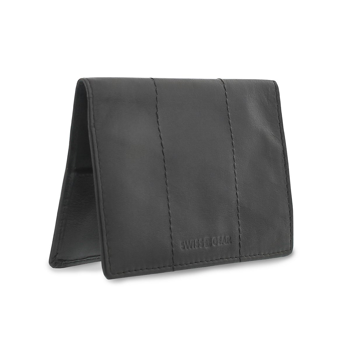 Men's black passport cover