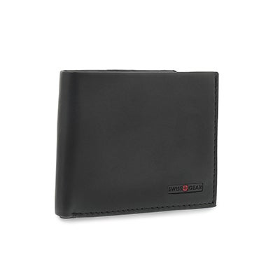 Swiss Gear Men's black billfold coin pocket wallet