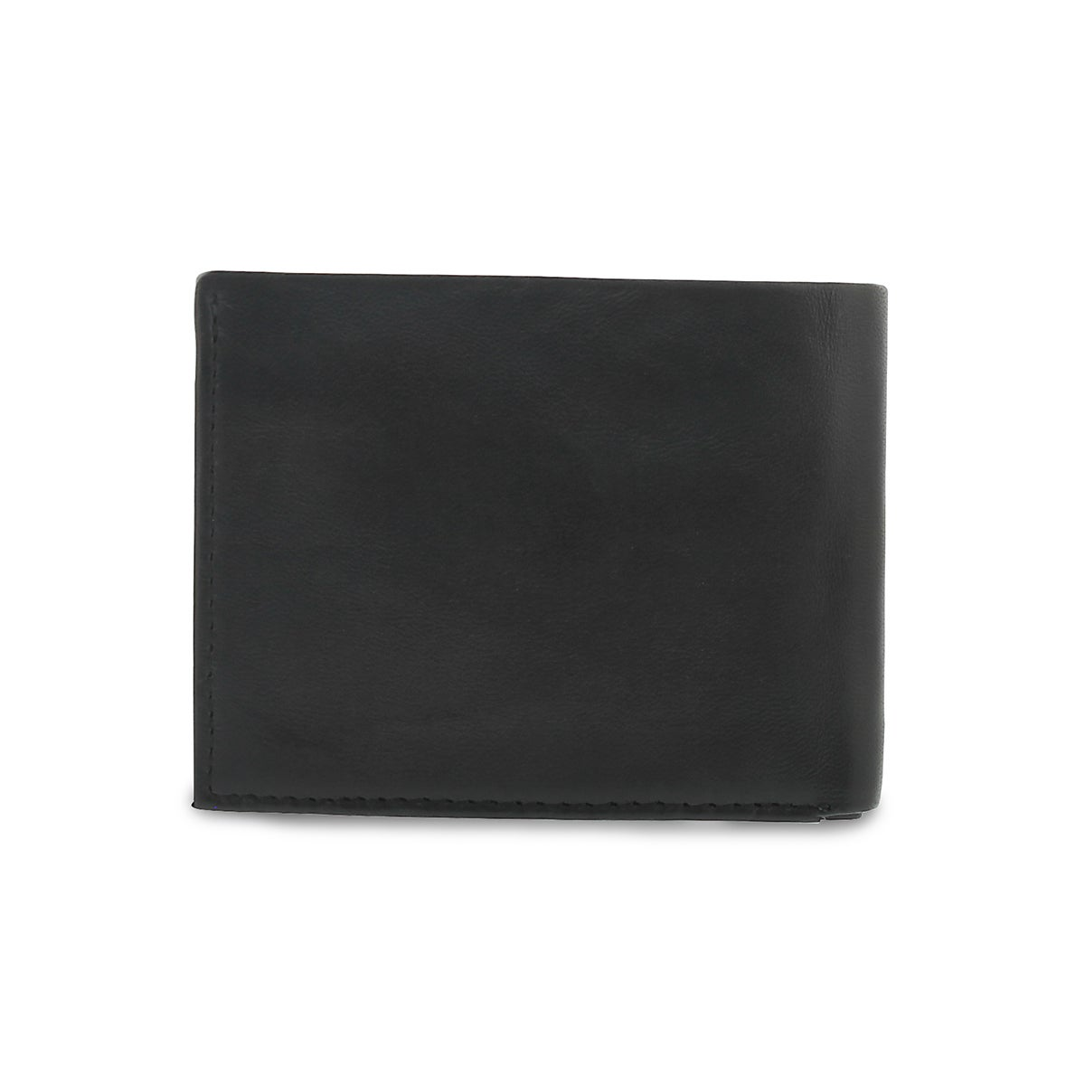 Mns black billfold coin pocket wallet