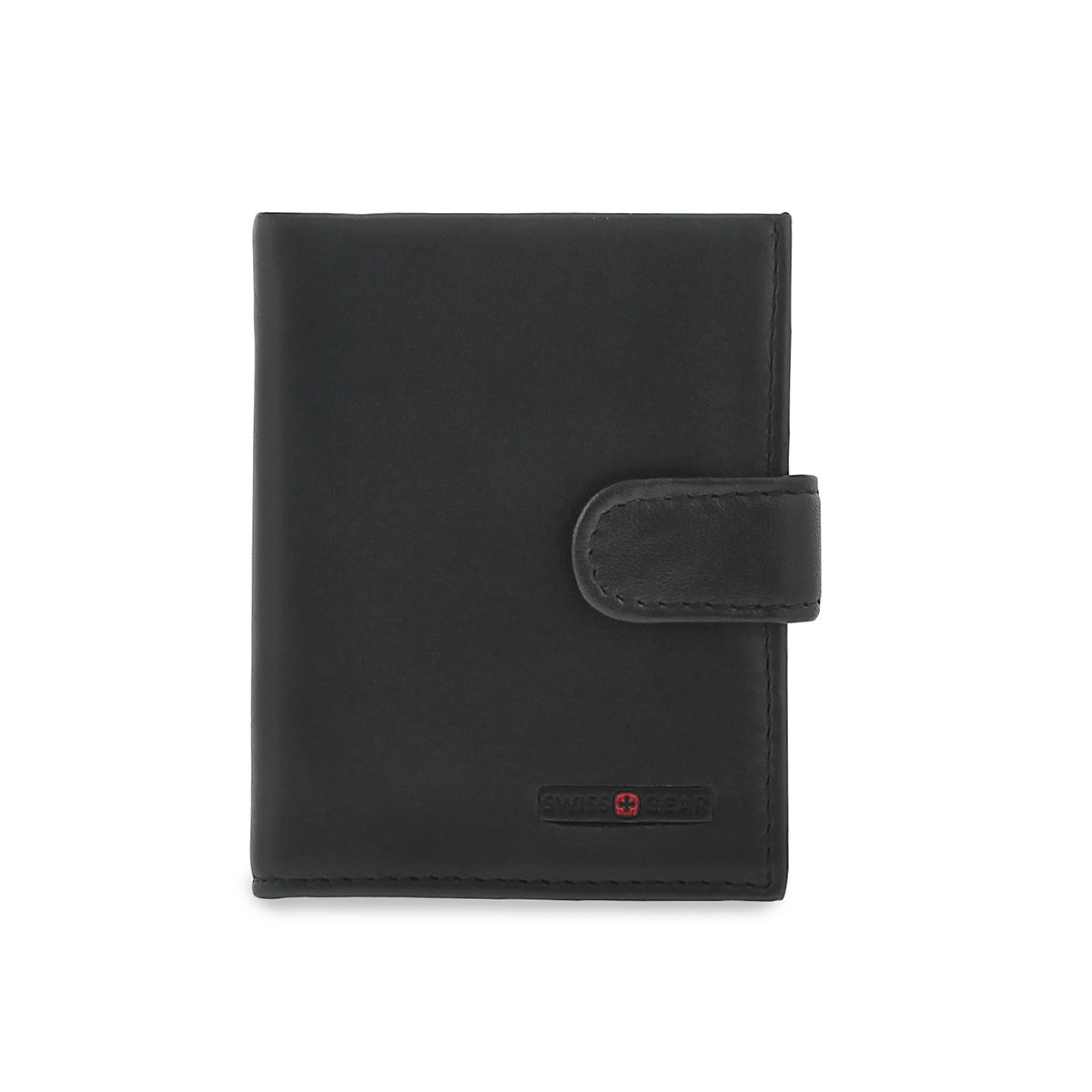 Mns black snap shut card case