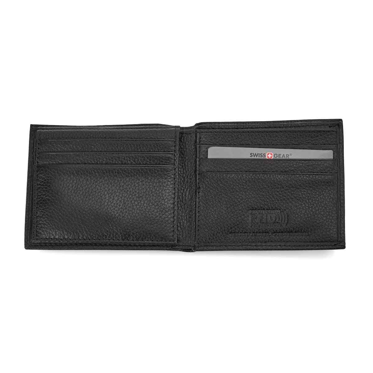 Mns black RFID w/ID flap billfold