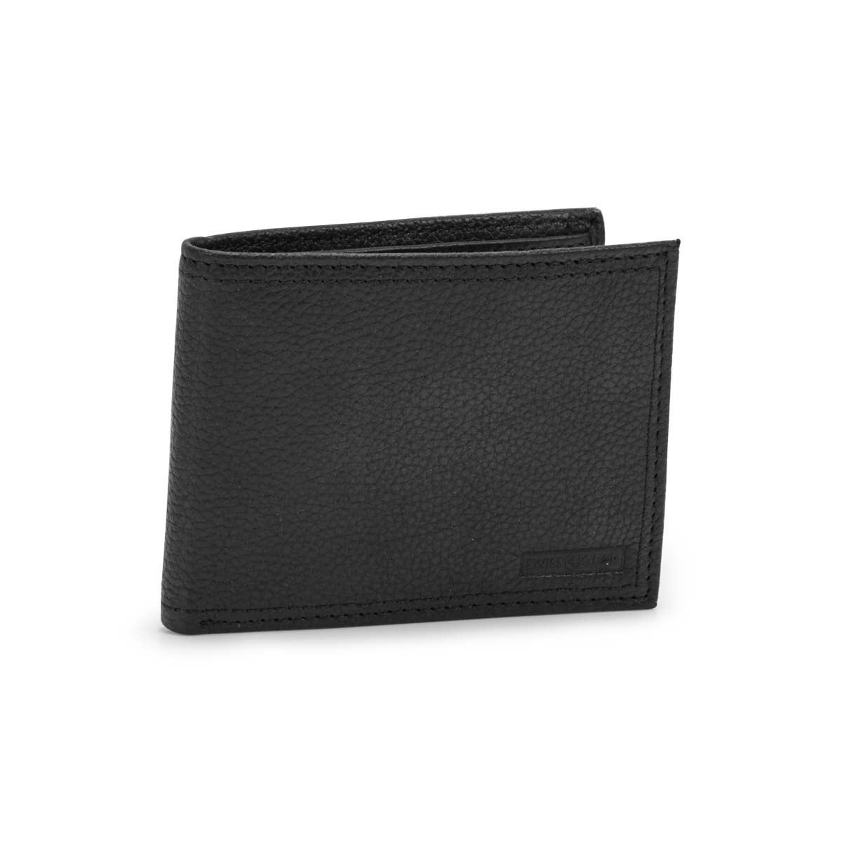 Women's black RFID ID flap billfold wallet