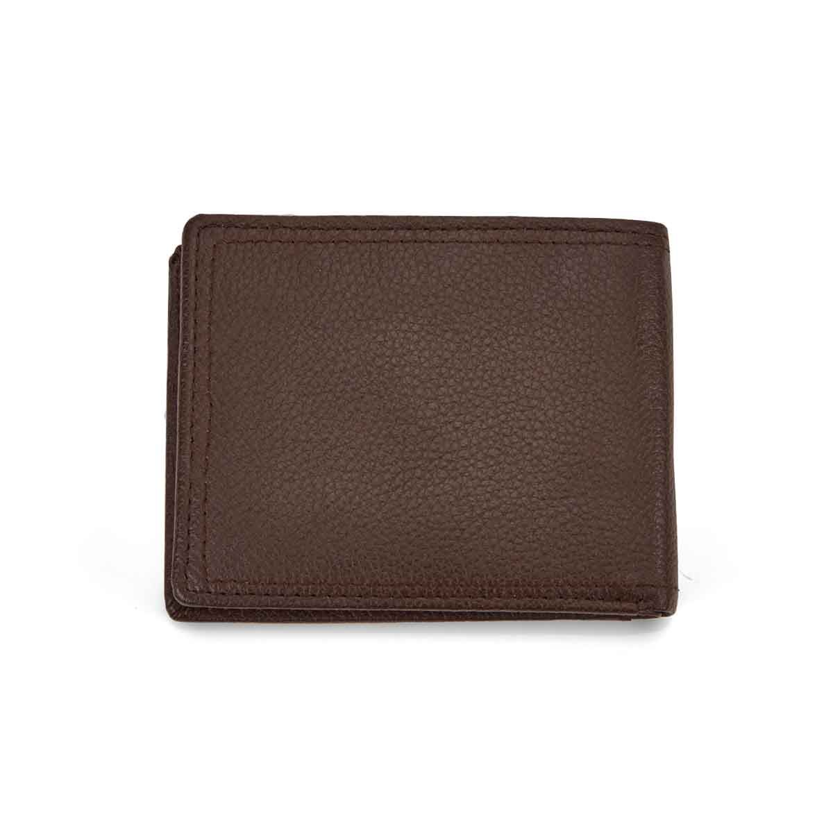Mns brown RFID w/ID flap billfold