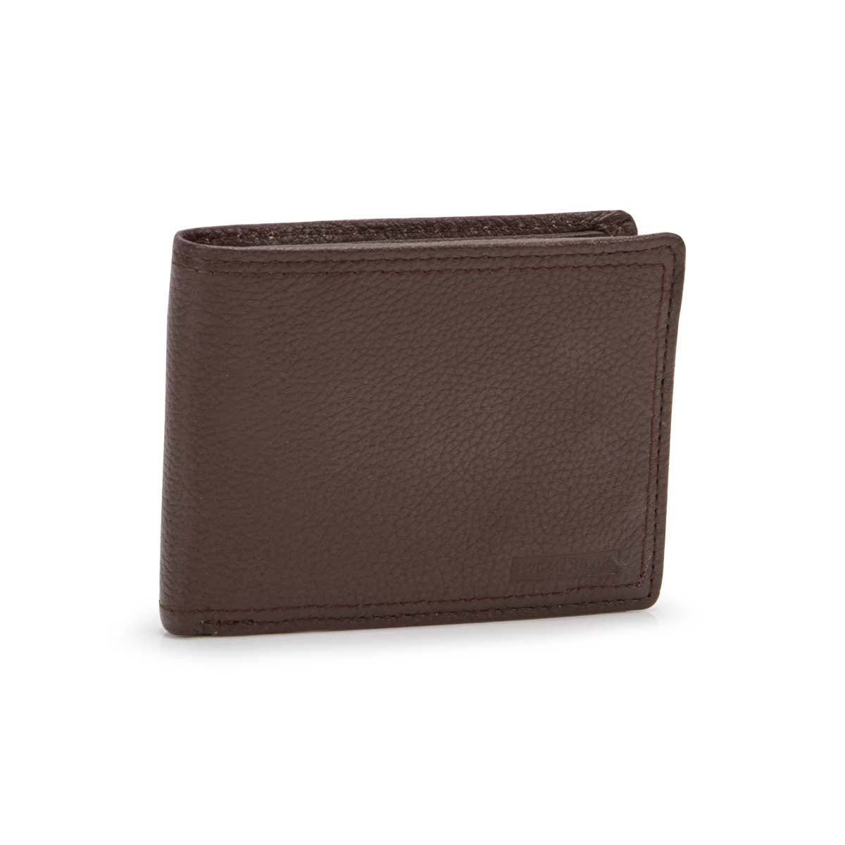 Women's brown RFID ID flap billfold wallet