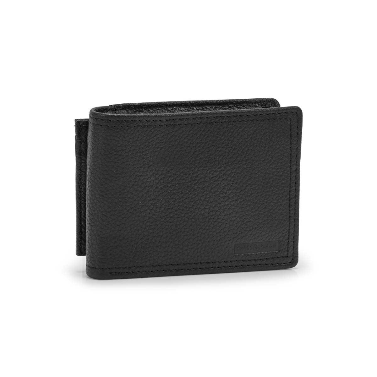 Men's black RFID billfold wallet