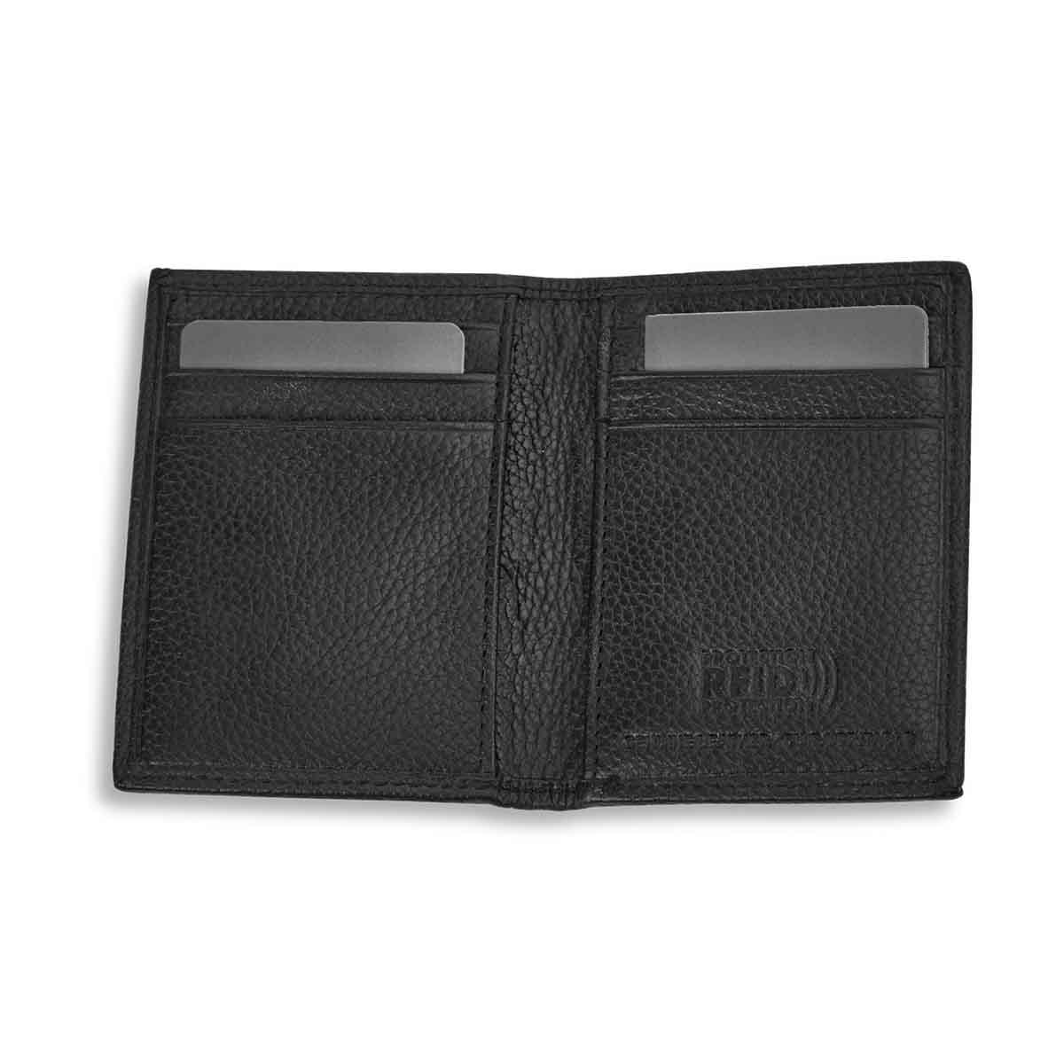 Mns black RFID slim card case wallet