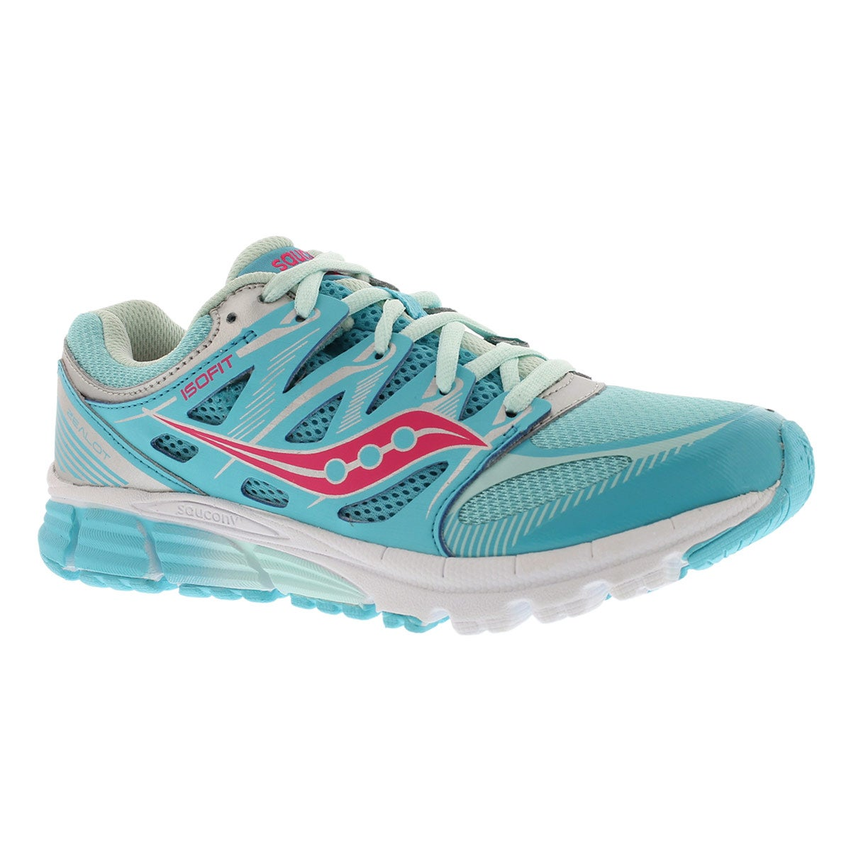 Girls' ZEALOT turquoise/silver running shoes