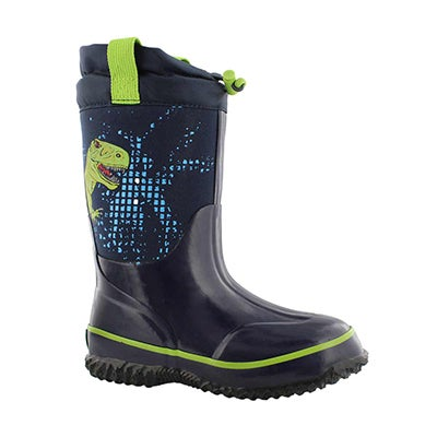 Bys T-Rex nvy wtpf pull on winter boot