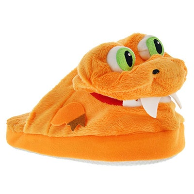 StompeezFun Kids' STOMPEEZ T-REX orange slippers