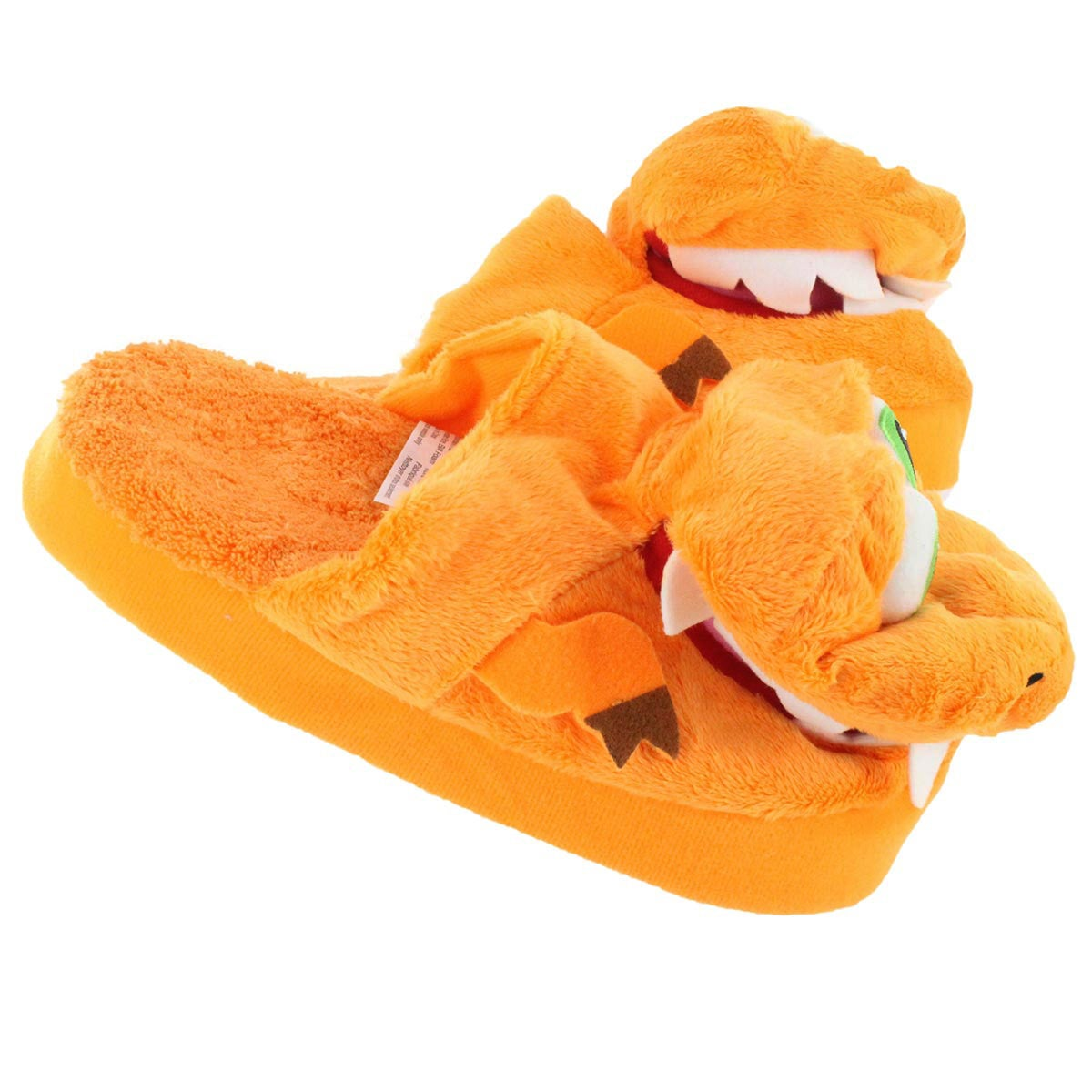 Kds Stompeez T-Rex orange slipper