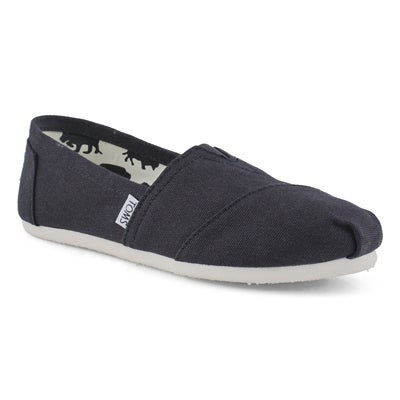 TOMS Women's CLASSIC black canvas loafers