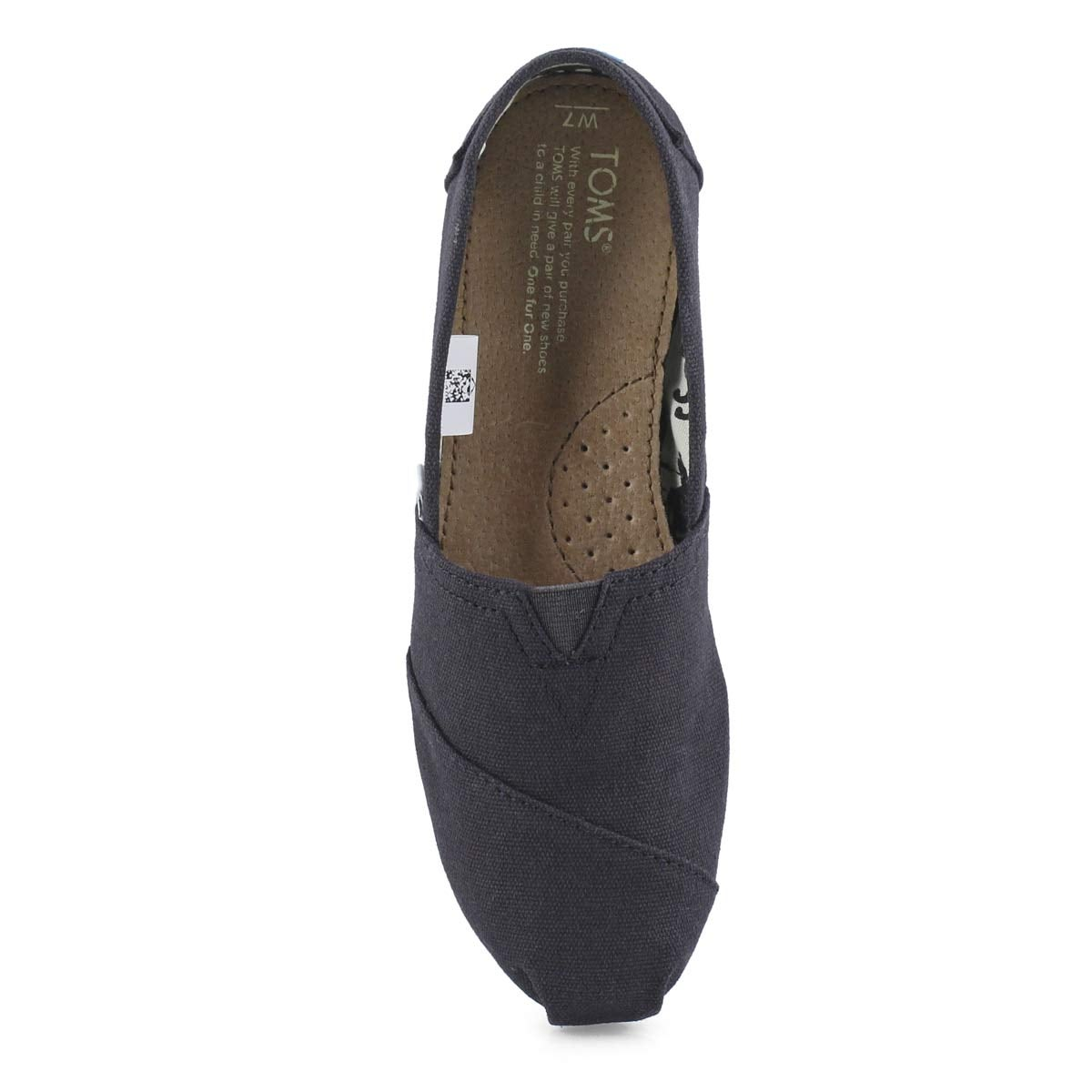 Lds Classic black canvas loafer