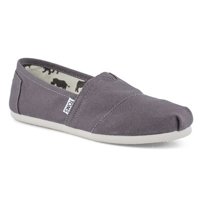 TOMS Women's CLASSIC ash grey canvas loafers