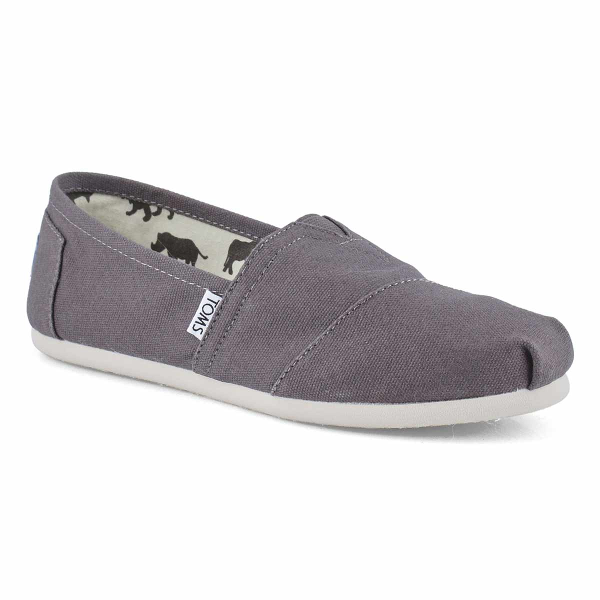 cc5769023 TOMS Women's CLASSIC ash grey canvas loafers | Softmoc.com