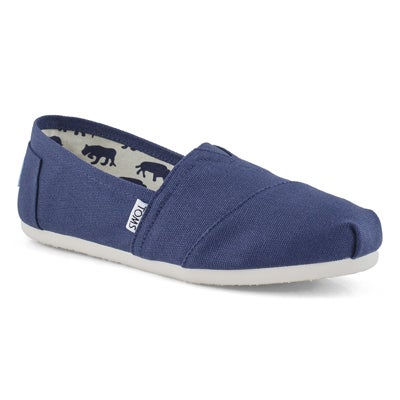 TOMS Women's CLASSIC navy canvas loafers