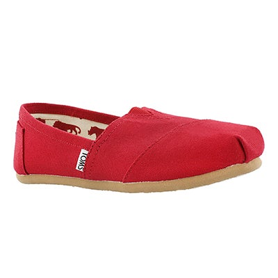 TOMS Women's CLASSIC red canvas loafers