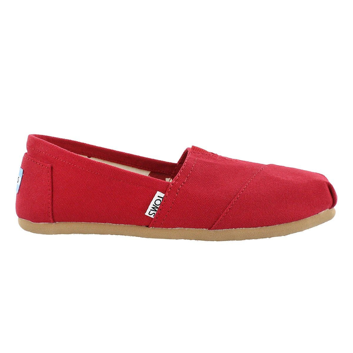 Lds Classic red canvas loafer