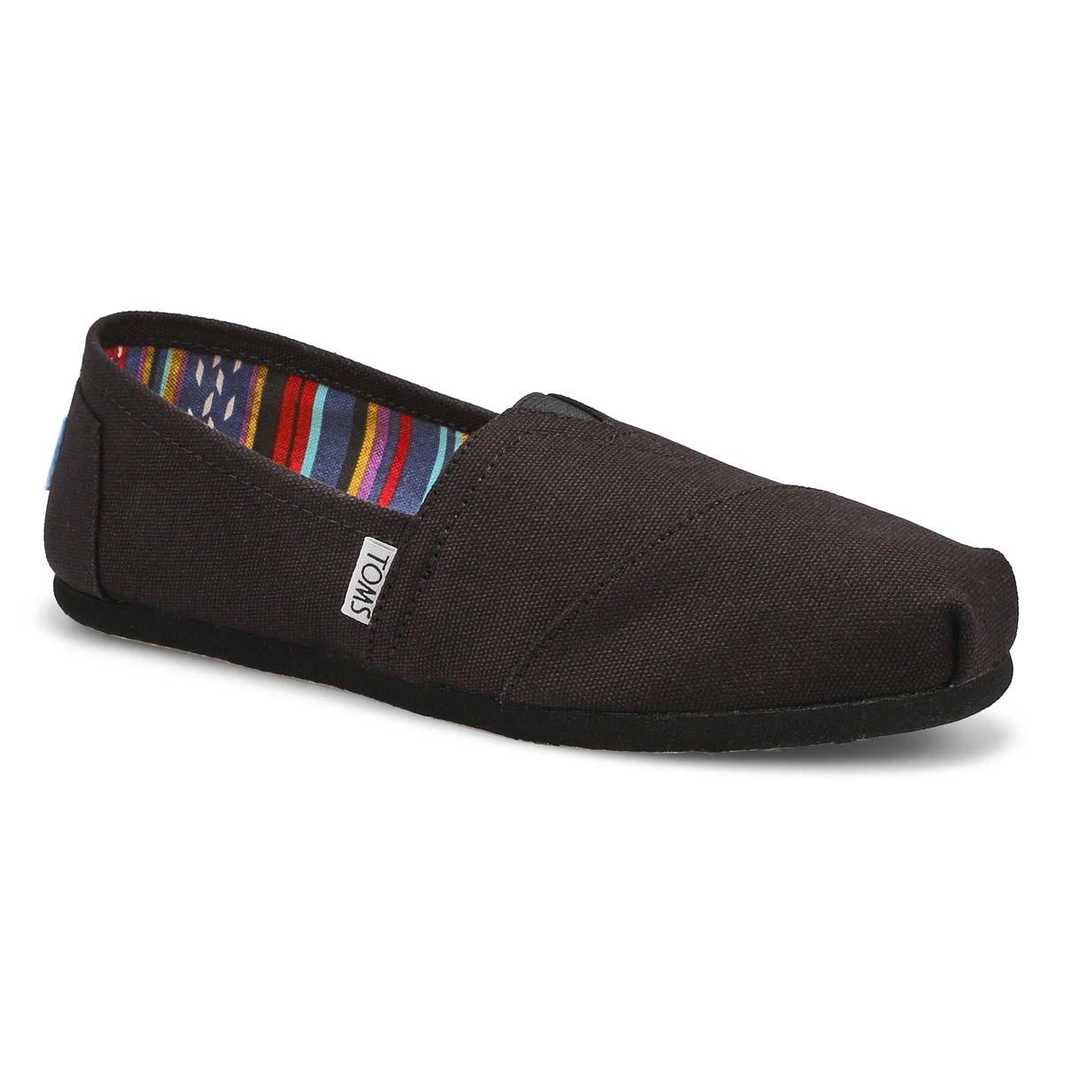 Women's CLASSIC black/black canvas loafers