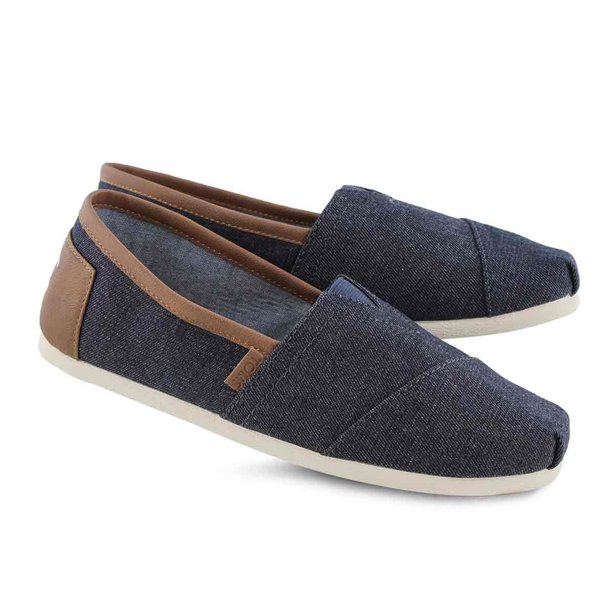 Mns Classic Lthr Trim denm casual loafer