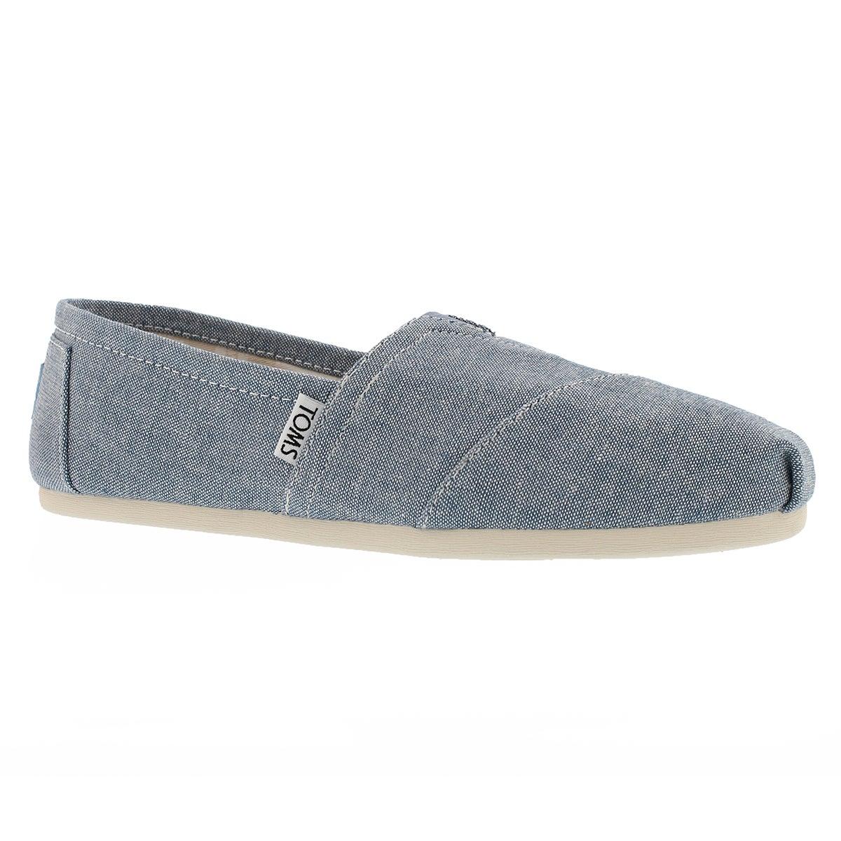 Women's SEASONAL CLASSIC blue slub loafers
