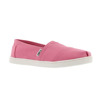 Grls Seasonal Classic pink canvas loafer