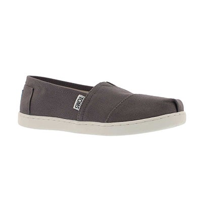Grls Classic ash grey canvas loafer