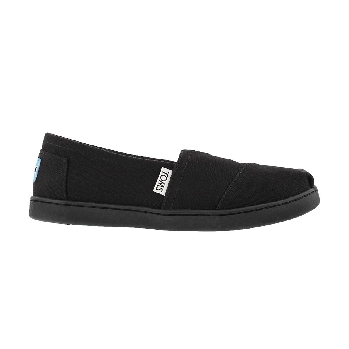 Grls Classic black canvas loafer