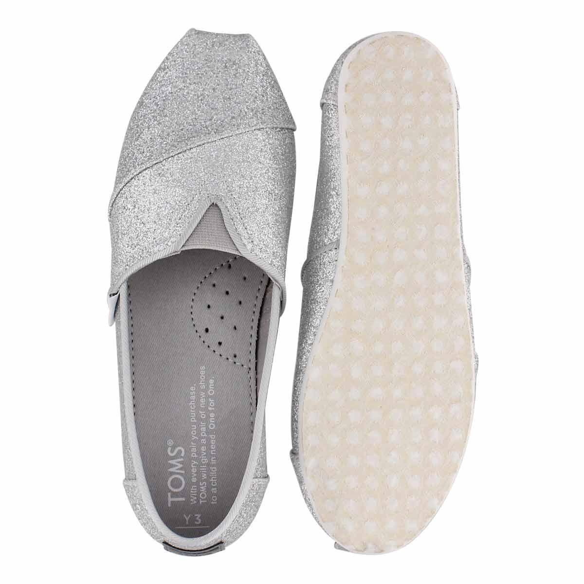 Grls Classic Seasonal slvr glmr loafer