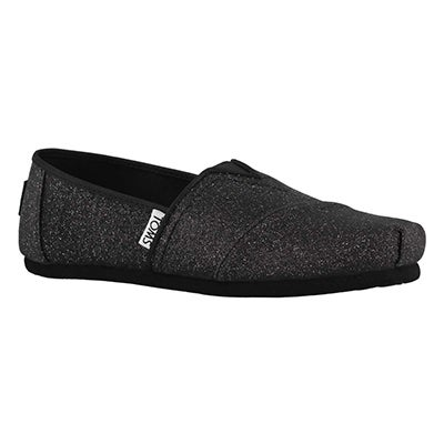 Grls Classic Seasonal blk glimmer loafer