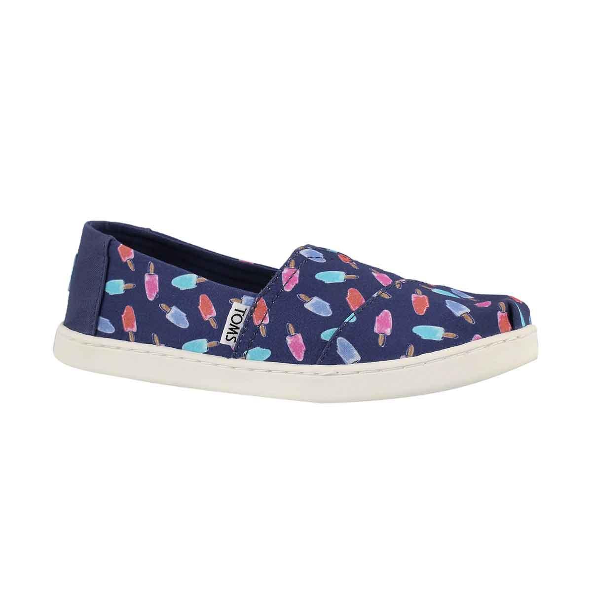 Grls Classic Ssnl cdt blu popscl loafer