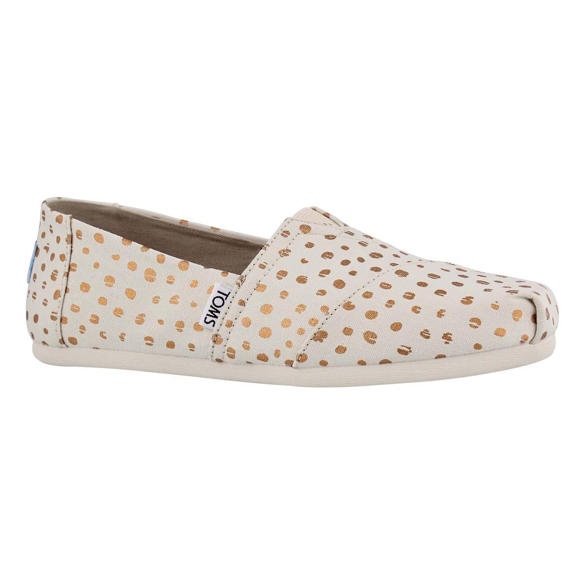 Women's SEASONAL CLASSIC natural dot loafers