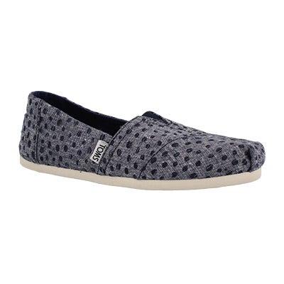 Lds Seasonal Classic nvy slub dot loafer