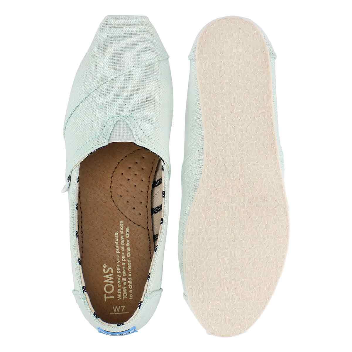 Lds Venice aqua glass loafer