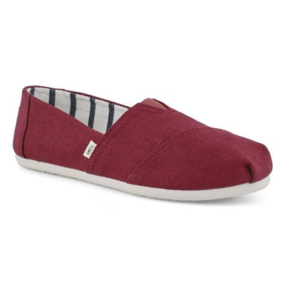 Lds Venice blk cherry Canvas loafer