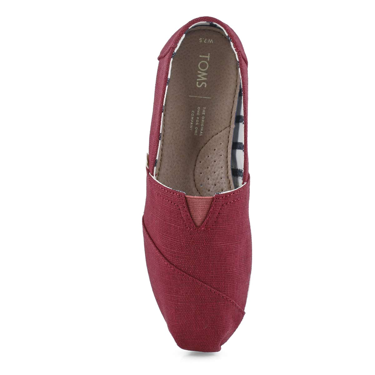 Lds Venice blk cherry Canvas loafer