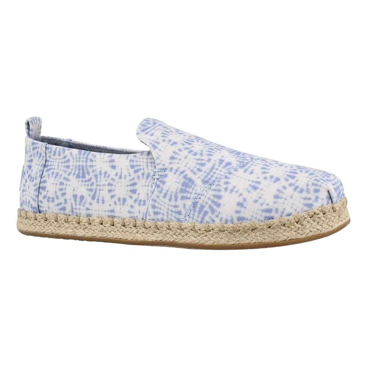 Lds DeconstructedAlpargata wt/blu loafer