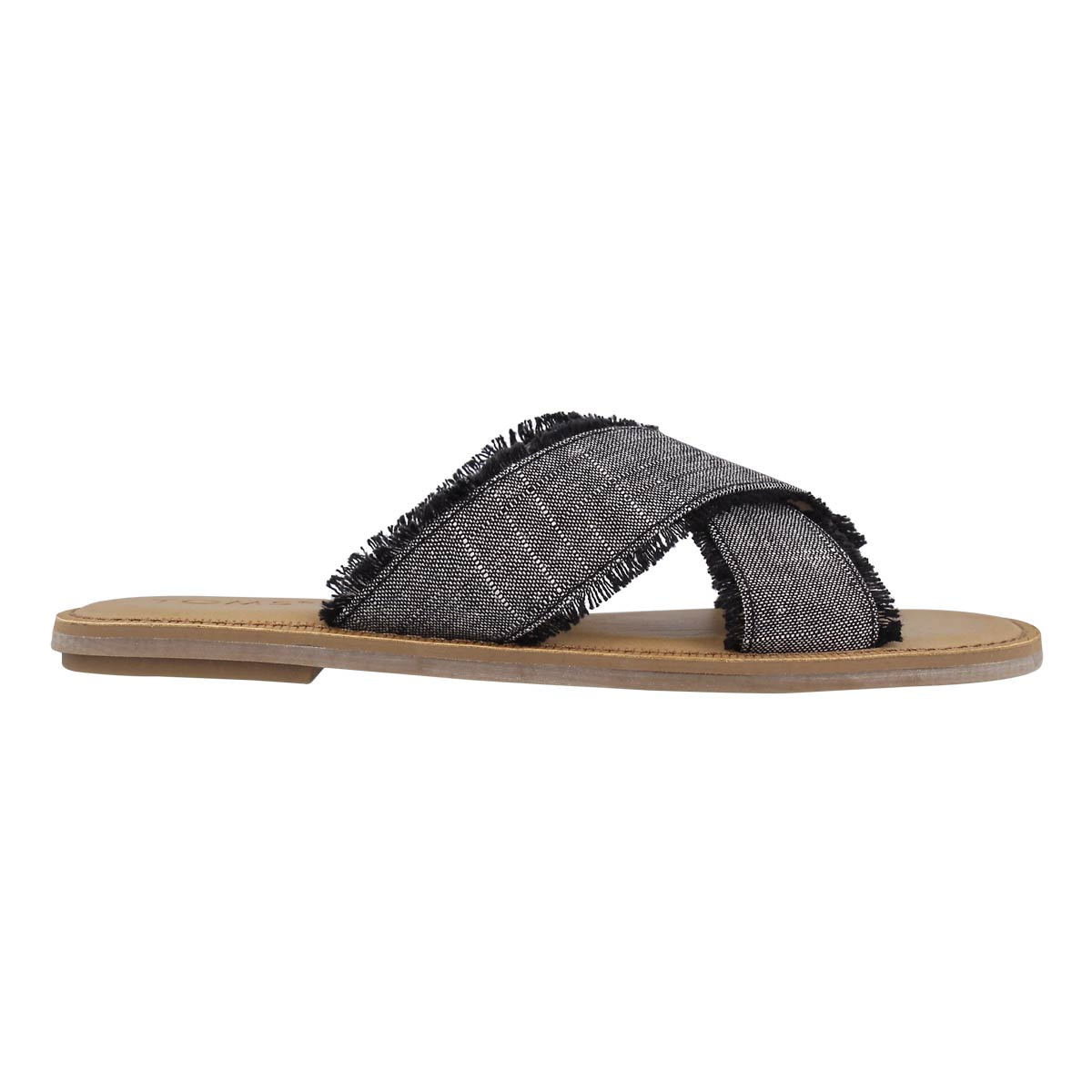 Lds Viv black casual slide sandal