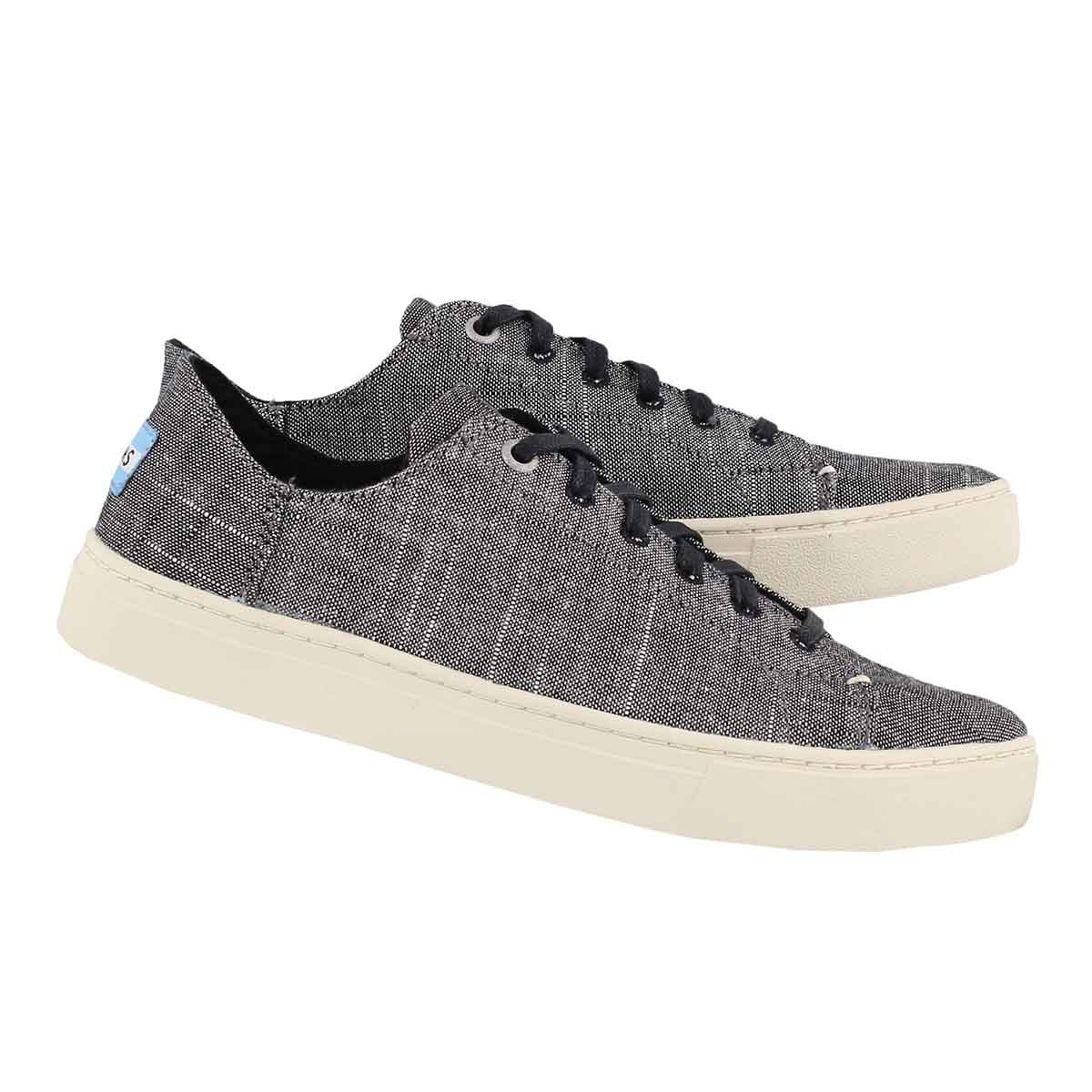 Lds Lenox black lace up casual sneaker